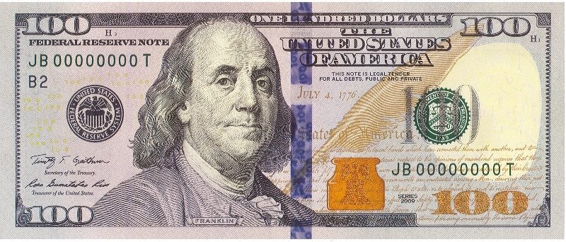 Деньги, 100 долларов