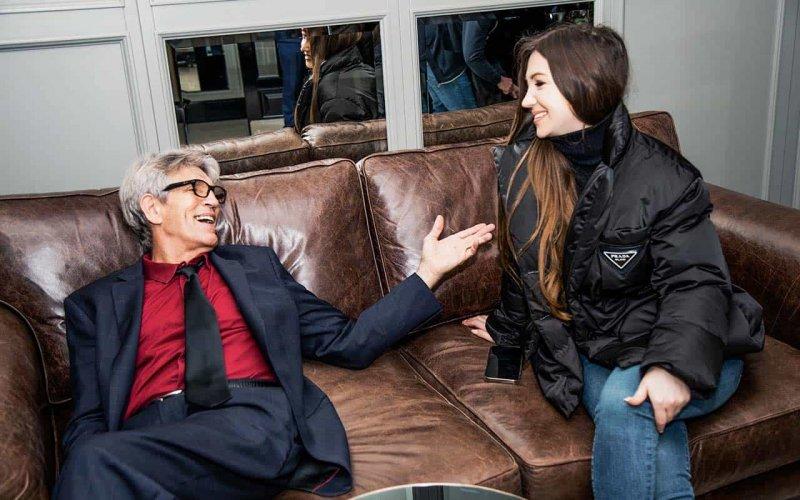 Эльвира Гаврилова и Эрик Робертс на съемках х/ф Случай в отеле Уолл-стрит