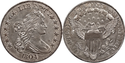 Draped Bust Dollar 1804 г.