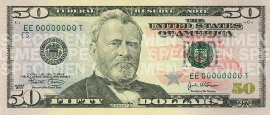 Деньги, 50 долларов