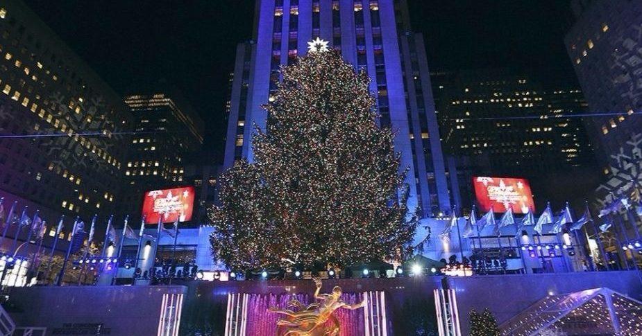 Рождественская ель в Нью-Йорке