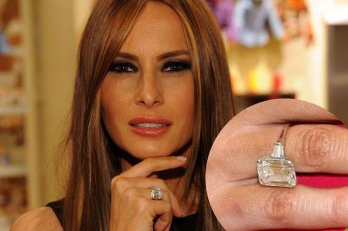 обручальное кольцо Мелании Трамп