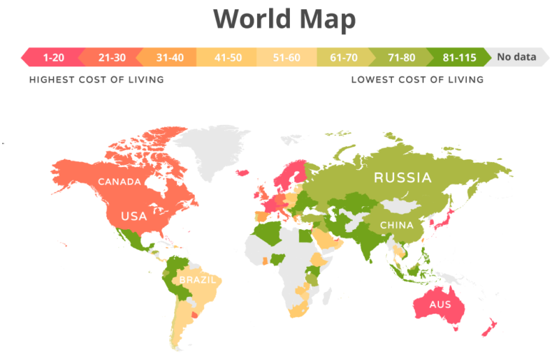 Украина вошла в ТОП-3 самых дешевых стран