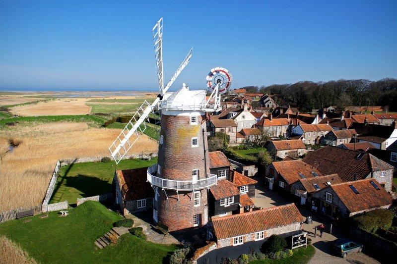 Cley Windmill - легендарная мельница в Норфолке, превращенная в отель