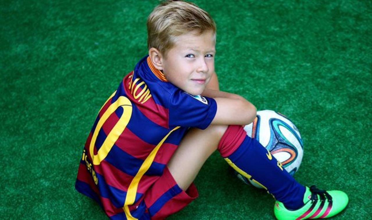 8-летний украинский футболист перебрался в академию Барселоны