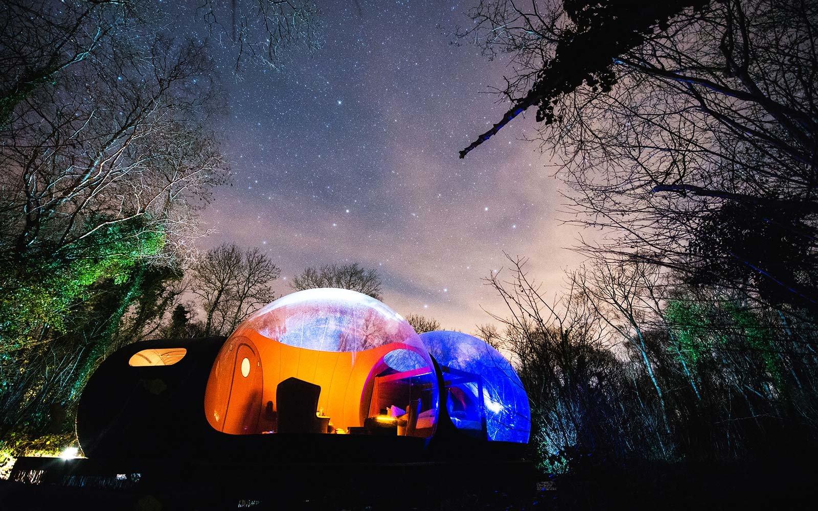 Дом-пузырь Finn Lough — комфортный отдых на фоне потрясающей природы Ирландии