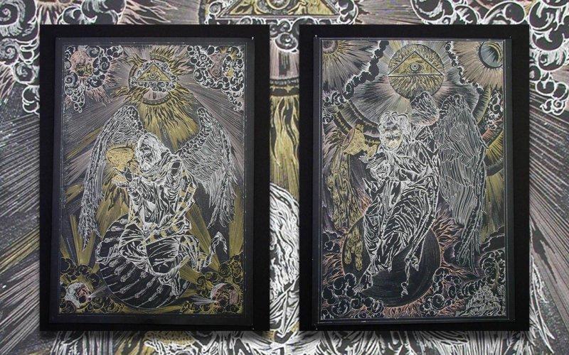 Всевидяче око на картині Костянтина Скопцова з серії «Ангели».