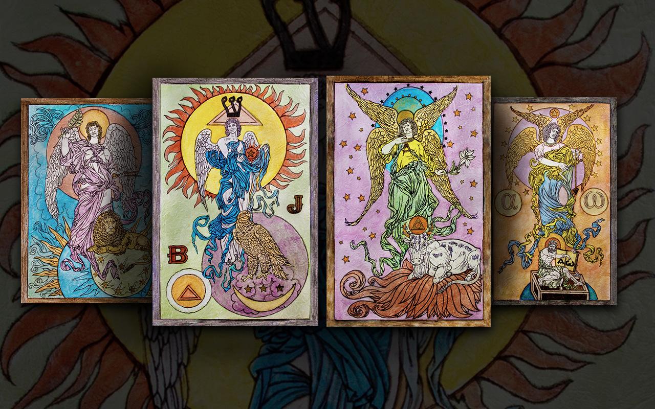 Костянтин Скопцов. Ангели чотирьох стихій - цикл з чотирьох картин.