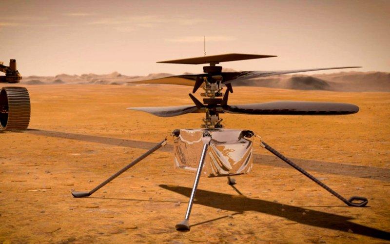 Гелікоптер НАСА на Марсі