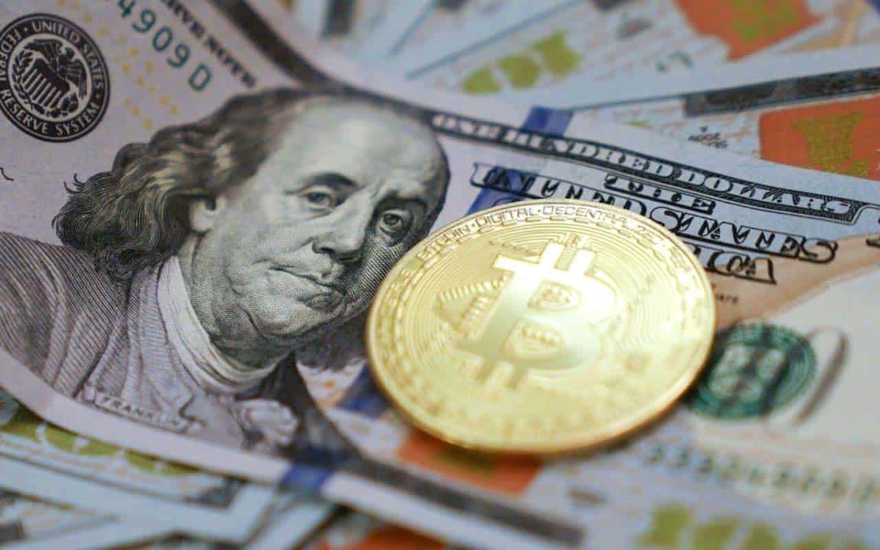 Bitcoin falls in value