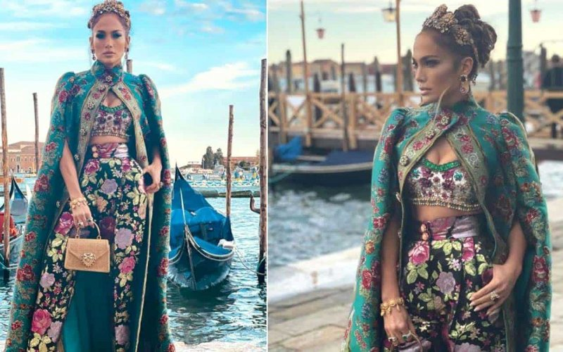 The Queen's Gambit: a fantastic image of Jennifer Lopez in Venice