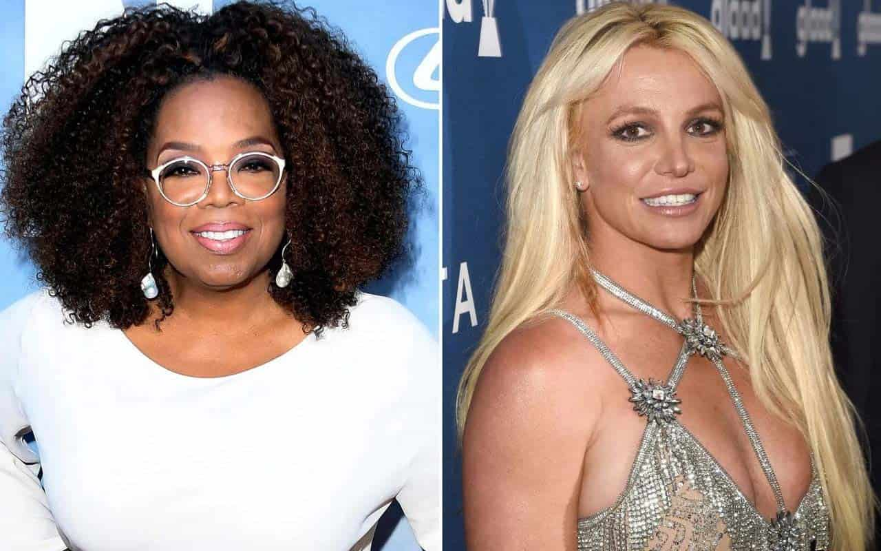 Britney Spears prepares for interview by Oprah Winfrey